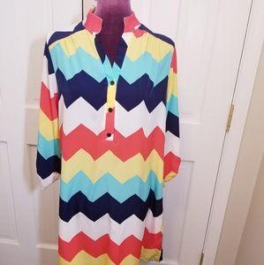 Chevron Muti-colored Dress